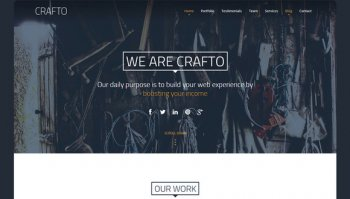 Crafto - One Page HTML theme
