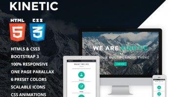 Kinetic - One Page Parallax Theme