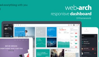 Webarch - Responsive Dashboard Template