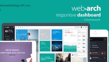 Webarch - Responsive Dashboard Template
