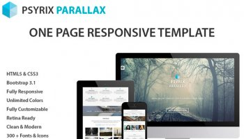 Psyrix - One Page HTML Template
