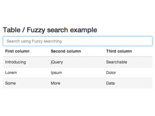 jQuery Searchable Plugin