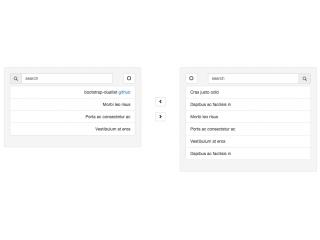 Bootstrap Dual list