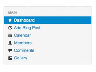 Blog menu example
