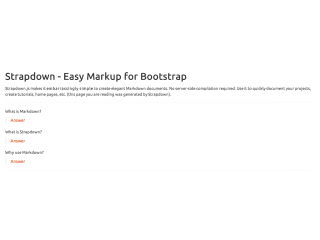 Strapdown: Markdown for Bootstrap