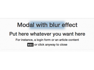 Modal with blur effect like iOS
