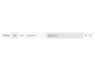 Inline Navbar Search