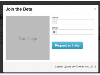 Modal for beta invite