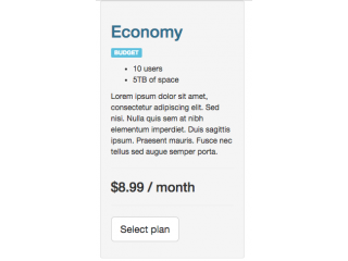 Pricing Table BS 3