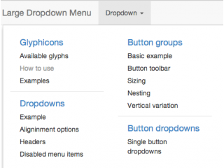 Large Dropdown Menu