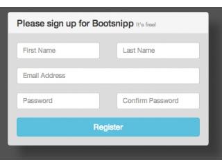 Bootstrap Registration Code Examples Bootsnipp Com