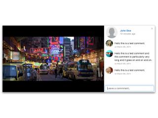 Social-network style lightbox