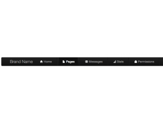 Admin Nav Bar - black