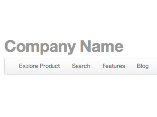 Product or company header