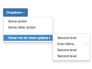 Multi level dropdown menu BS3