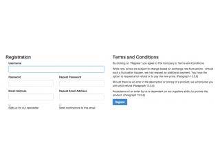 Basic Register Page